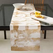 Furniture runners Bedroom Furniture West Elm Metallic Abstract Grid Table Runner West Elm