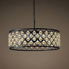 chandeliers glass drop chandelier vintage lamp led lighting crystal hanging chanlier light for living dining