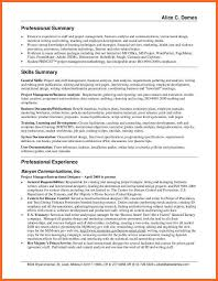 Resume Skills Summary Examples Professional Customer Service Career ...