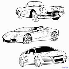 How draw cars to a sports car step by online learn learn draw cars how to