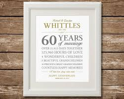 60th anniversary gift diamond anniversary anniversary gift anniversary gift for pas anniversary