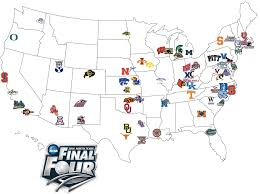 Map Locations Travel Distances For 2014 Ncaa Tournament Teams