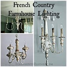 french country farmhouse lighting distressed wood 6 light chandelier