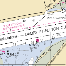 Mill Cove Chart 11491 St Johns River Atlantic Ocean To