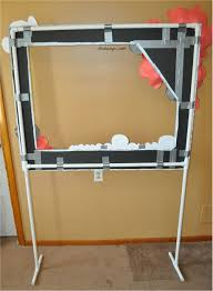 diy photo booth mirror the back of photo booth frame on pvc pipe stand duck tape