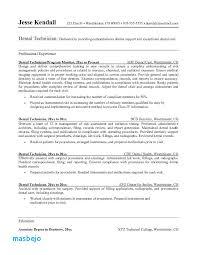 Dental Lab Technician Resume Example Resume