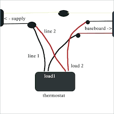 thermostat for baseboard heater locate the across the line Basic Electrical Wiring Diagrams thermostat for baseboard heater thermostat