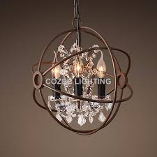 best orbit crystal chandelier foucault039s orb wrought iron crystal chandelier lighting country