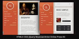 36 musicianartist html5 online press kit premium and free resume templates musicians resume template
