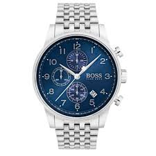 hugo boss watches the collection chic time hugo boss navigator 1513498 men s watches silver