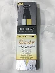 brand new john frieda sheer blonde go blonder in shower lightening treatment