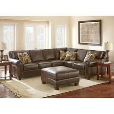 leather living room furniture. Gavin Top Grain Leather Sectional And Ottoman Living Room Furniture