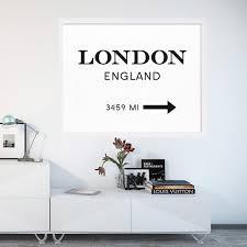 modern london england print art interior design poster canvas art