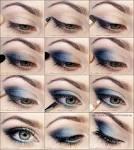 Как сделать макияж в синему платью