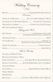 Ceremony Template Catholic Wedding Ceremony Program Template In 2019 Wedding