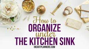Under Kitchen Sink Organizing How To Organize Under The Kitchen Sink Youtube