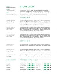 Free Resum Best Free Resumes Template for Your CV WPlook Studio 63