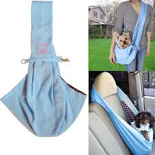 <b>Hands free</b> Reversible Small <b>Dog Cat</b> Sling <b>Carrier Bag</b> Travel Tote ...