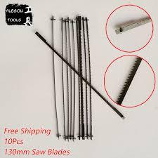scroll saw blades. 10 pieces 130mm scroll saw blades single face pinned jig cutting p