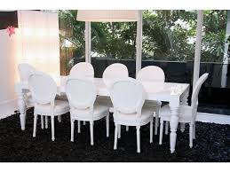 modern baroque louis xiv black dining chairs love the white lacquer modern and clic all together anything would match with it