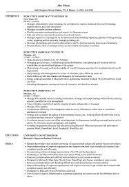 Executive Assistant Vp Resume Samples Velvet Jobs