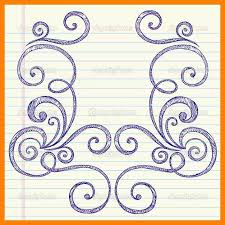 Border designs to draw on paper
