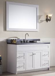 white bathroom cabinets with granite. 49 inch transitional single sink bathroom vanity black granite top white cabinets with a