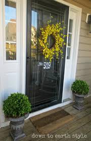 Exterior Door Decorating 17 Best Ideas About Front Door Decor On Pinterest Letter Door