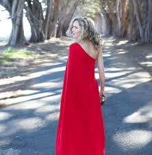 what to wear to your work holiday party memorandum red one shoulder gown for holiday party