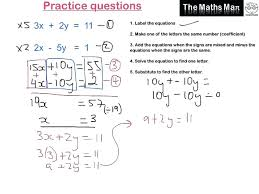 solve simultaneous equations excel personable solving simultaneous equations by elimination practice questions solve wolfram large size
