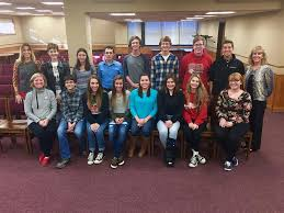new lenox students participate in voice of democracy essay  pictured are top row from left hilary gansauer elizabeth ihrke mairghread