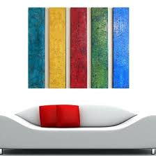 wood wall sculpture texture paintings large abstract painting contemporary art modern multi panel decor stretched canvas