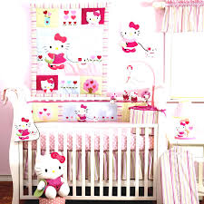 Pretty Baby Girl Nursery Room With White Crib And Pink Wall Paint Also  Glass Window