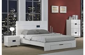 white modern bedroom sets. Misty White Modern Platform Bed Bedroom Sets