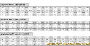 New Balance Women S Clothing Size Chart New Balance Shoe Sizing Guide