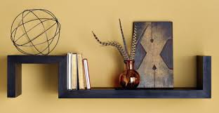 here is a nifty wall shelf shaped like the letter s from west elm the nice thing about the shelf is the two levels this gives you the chance to