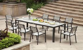 white metal outdoor dining table lovely patio furniture