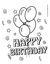 Of course, you can choose from the many themes of this website, but you can. Happy Birthday Coloring Pages With Balloons For Kids Coloring Coloring Birthday Cards Happy Birthday Coloring Pages Happy Birthday Cards Printable