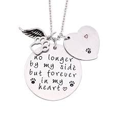 o riya loss of pet necklace pet memorial necklace dog cat hand sted jewelry