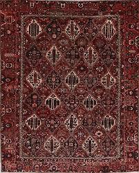 persian wool rug bakhtiari handmade all over geometric oriental area rug 9 x 12