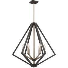 artcraft ac10686bz breezy point 6 light 30 inch bronze chandelier ceiling light