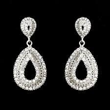 celebration rhinestone drop earrings