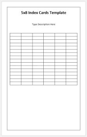 Index Card Word Template