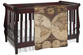vintage world map baby blanket