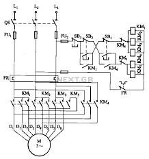 automations \u003e motor control circuits \u003e 2 y connected two speed Contactor Schematic 2 y connected two speed motor contactor control circuit schematic contactor schematic symbol