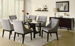 great rectangular glass dining table set coaster alvarado 102231 at homelement com with wood base room