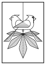 Birds Charley Harper Coloring Cards Coloring Pages 2 In 2019