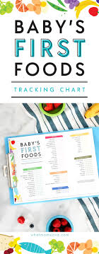 Introducing New Foods To Baby Chart Printable Checklist For Babys First Foods Tips For