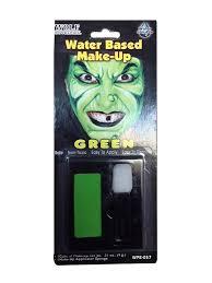 regular green watermakeup makeup face paint vire devil witch zombie clown