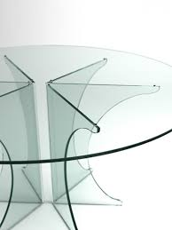 more images of all glass table posts